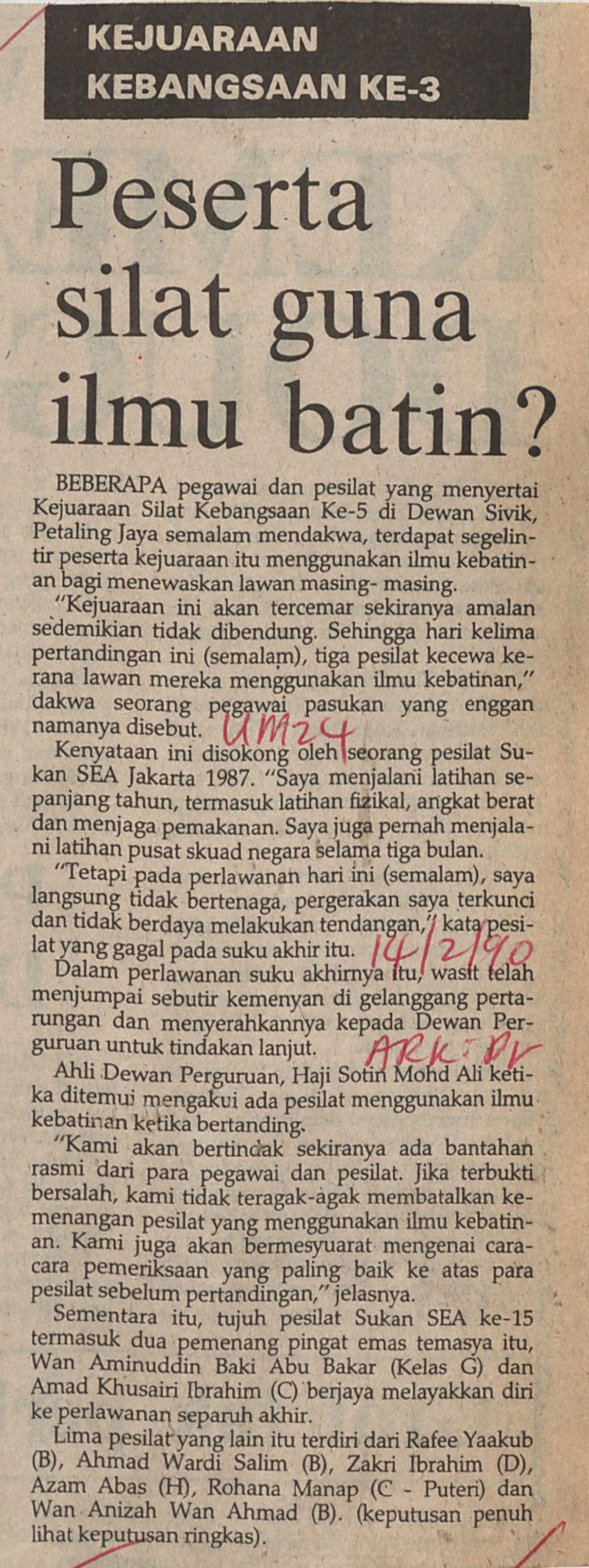 Holdings  Peserta silat guna ilmu batin  4f6bb44ddd